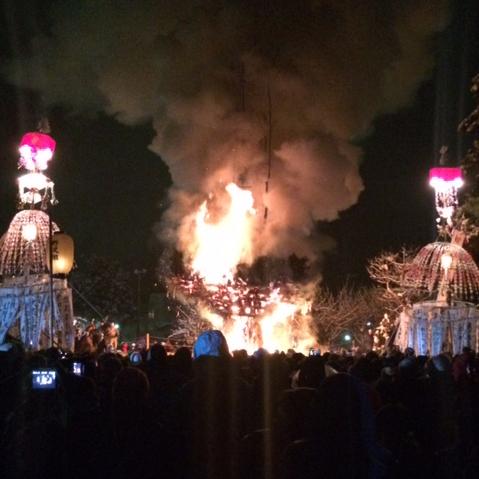 Fire Festival Snow Nozawa Onsen Japan